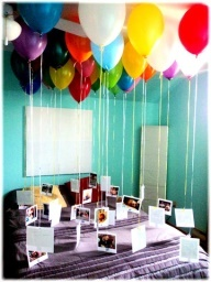 Balloon Memories cool idea for boyfriend gifts. I should so do this to his room when he's gone haha (;