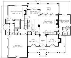 Abberley Lane Plan SL-683  Exclusive Design for Southern Living by John Tee, Architect
