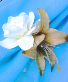 Gardenia and Lily Headpiece, Hair clip