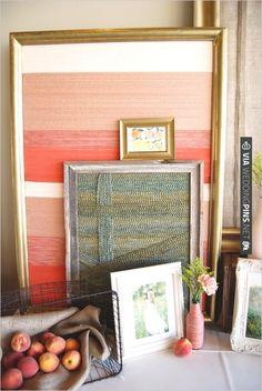 diy yarn wrapped canvas LOVE | VIA #WEDDINGPINS.NET