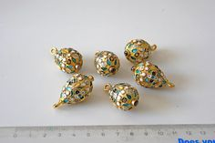Russian button with earring back worn on Czars by aBeadCarnival, $375.00