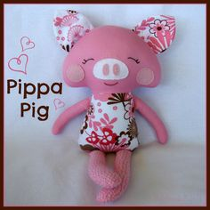 $40.00 Pippa Pig by MissMirandaMadeIt on Handmade Australia