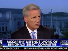 Dave Brat 4 Speaker: McCarthy: Benghazi Committee 'Not Political' 'Never My Intention' To Say Otherwise