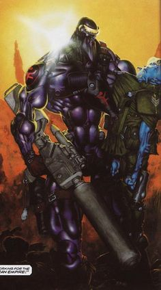 Joe Pineapples of The ABC Warriors (2000ad) - art by Kevin Walker - the old transvestite robot sniper trope. AGAIN.