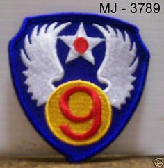US Air Force 9th Air Force Embroidered Patch
