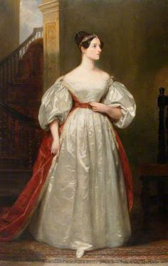 """""""Ada Byron (1815–1852), Countess of Lovelace, Mathematician, Daughter of Lord Byron"""", 1836, by Margaret Sarah Carpenter (British, 1793-1872). Ada Lovelace was an English mathematician and writer chiefly known for her work on Charles Babbage's early mechanical general-purpose computer, the Analytical Engine. Her notes on the engine include what is recognized as the first algorithm intended to be processed by a machine. She is often considered the world's first computer programmer."""