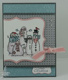 """Cat's Ink.Corporated, Christmas Card **** SU """"Flaky Friends"""", retired."""