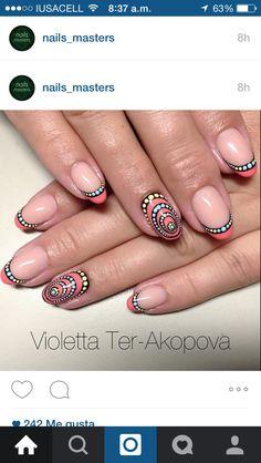 Nail art au dotting tool part 2 Nail Art Dotting Tool, Dot Nail Art, Nagellack Party, Dot Nail Designs, Fabulous Nails, Nail Art Galleries, Beautiful Nail Art, Love Nails, Trendy Nails