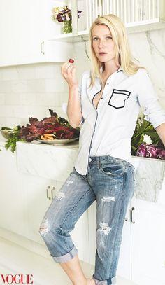 Gwyneth Paltrow Wears American Eagle In Vogue