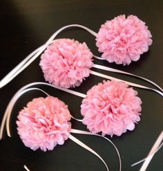 custom wedding corsage // tissue paper // flower // wrist corsage // wedding accessory // flower girl. $6.00, via Etsy.