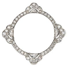 1stdibs - Art Deco Platinum and Diamond Pin, circa 1925 explore items from 1,700  global dealers at 1stdibs.com