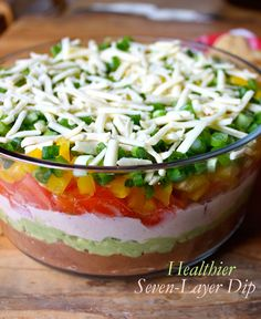 This healthier seven layer dip will be a hit at your next party, and no one will know that it has only 136 calories per serving. Get the recipe.