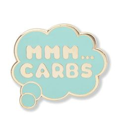 Carbs Thought Bubble Lapel Pin
