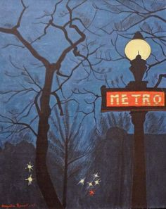 View Métro dans la nuit by Augustin Rouart on artnet. Browse upcoming and past auction lots by Augustin Rouart. Nocturne, Art After Dark, Moonlight Painting, Love Illustration, French Art, Light Art, Cool Artwork, Night Time, Dark Art