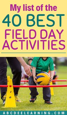 These activities for Field Day include cooperative, competitive, relays and water games. This is useful for any PE teacher planning a field day. -Katie W. Field Day Activities, Field Day Games, Middle School Activities, Pe Activities, Movement Activities, Games For Middle Schoolers, Elementary Physical Education, Physical Education Activities, Elementary Pe