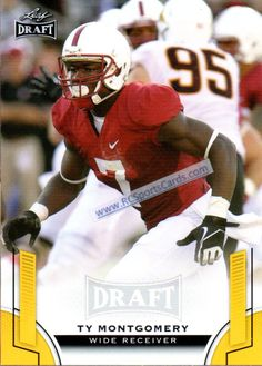 2015 Ty Montgomery, Stanford, 1 Leaf Draft Gold Parallel #58 http://www.rcsportscards.com/stanford-football-cards.html