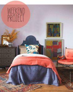 Poppytalk: Weekend Project: Headboard Swagger