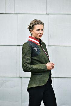 Jacke Leinen grün - Mirabell Plummer Bomber Jacket, Fashion, Mandarin Collar, Linen Fabric, Jackets, Moda, Bomber Jackets, Fasion, Trendy Fashion