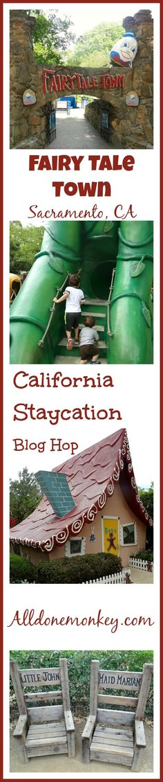 "Fairy Tale Town - Sacramento, CA - One of the many great places to visit with kids included in this year's ""California Staycation"" Sunshine Kids Blog Hop! Staycation #travel #frugal Frugal Staycation Ideas"