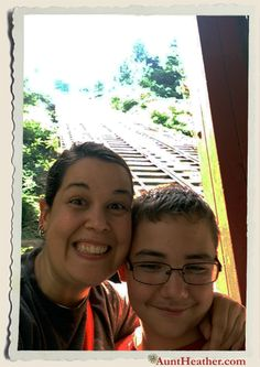 Me & Kyle on the Johnstown Incline! Steepest vehicular incline plane in the world! 7/26/14 #AuntHeather