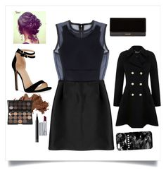"""""""night out \\"""" by emilyxcourtney ❤ liked on Polyvore featuring Victoria, Victoria Beckham, Bobbi Brown Cosmetics, NARS Cosmetics, By Terry, Balmain, Miss Selfridge and Mr. Gugu & Miss Go"""