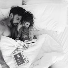 morning reading with daddy