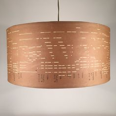 Vintage Pianola Roll lampshades and pendant lighting By by Patturn