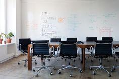 Giant white board for the boardroom / pin board