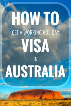 How To Get A Working Holiday Visa In Australia and save money for travelling!  http://goatsontheroad.com/working-holiday-visa-save-money-travel-australia
