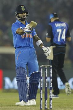 """#Virat #Kohli hits unbeaten ton (154 off 134 balls) help #India to chase down target of 285 and take india to a comfortable seven-wicket win over #NewZealand in Mohali.  Congratulation """"JAI HO"""" team who at the top of 10K league!  Play #FantasyCricket and cheer win lots of guaranteed CASH with India @ https://www.draftindia.in  #DraftIndia,#INDvsNZ,#INDIAvsNEWZEALANDrdODI, #SuperFastDI"""