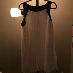 Xxl ivory  pleated dress Ivory and black pleated dress dress xxl - never worn ( price firm unless bundled) Xhilaration Dresses Maxi