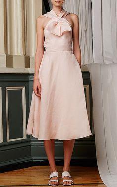 Washed Silk Gazar Sailor Dress by Rosie Assoulin Now Available on Moda Operandi
