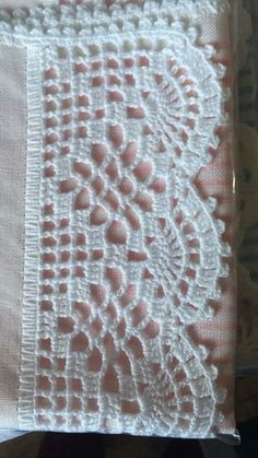 How to Crochet Wave Fan Edging Border Stitch Filet Crochet, Crochet Doily Diagram, Crochet Edging Patterns, Crochet Lace Edging, Thread Crochet, Crochet Trim, Crochet Shawl, Crochet Doilies, Crochet Stitches