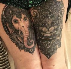 Tattoo Katzen und Elefanten Maske - Tattoo Motive, Tattoovorlage, Tattoo Katzen und Elefanten Maske kostenlos. Bewerte und teile dieses Photo. Werde ein Teil de