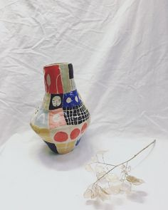 This patchwork pot and some others will be in the @itiswhatitisstore which opens this Saturday, 24th March, pop in and have a look