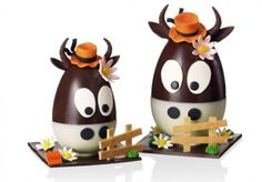 cows made of chocolate