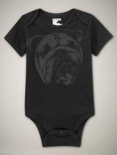 Bulldog Onesie by Baby Gap