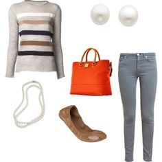"""""""Sweater and Pearls"""" by shizbuckley on Polyvore"""