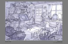 Ideas Concept Art Sketches Environment Cartoon Background For 2019 Background Drawing, Cartoon Background, Animation Background, Environment Sketch, Environment Design, Art Sketches, Art Drawings, Bg Design, Perspective Drawing