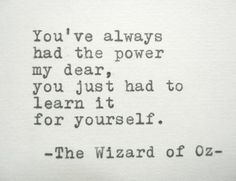 WIZARD OF OZ Quote Frank Baum Quote Typed on by PoetryBoutique, $9.00