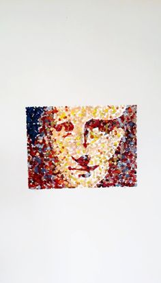 Items similar to MONA, Original Melted crayon pointillism. on Etsy Mona Lisa Parody, Crayon Art, Melting Crayons, Pointillism, Cool Pictures, Art Projects, Canvas Art, Student, Facebook