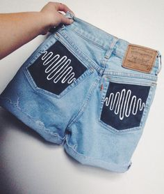 Sound Wave high waisted shorts