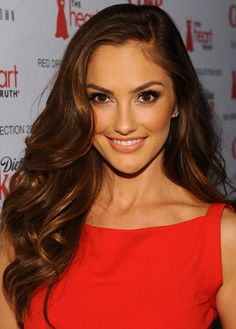 Minka Kelly Long Side Part - Minka Kelly Hair - StyleBistro