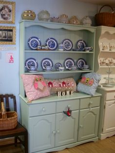 More of our lovely painted dressers and displayed china....