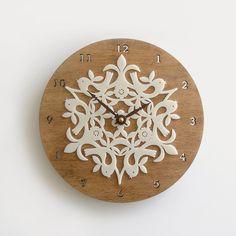 horloge en bois design