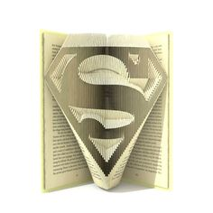 Book folding pattern - SUPERMAN logo - 2 different sizes included 199 and 224 folds + Tutorial with Simple pattern - Heart - SH0101