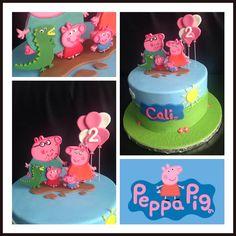 Gâteau sur le thème Peppa pig