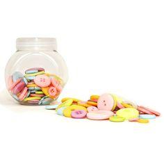 Hobbycraft Button Jar Pastel | Hobbycraft