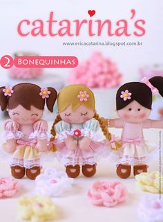 poupées en feutrine
