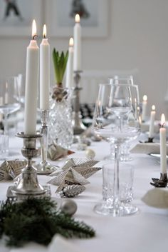 lilla villa vita: beautiful table setting